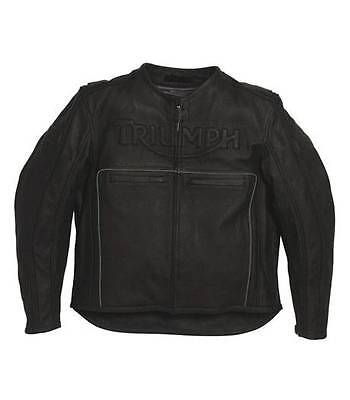 Mens Triumph Freeway Leather Motorcycle Jacket