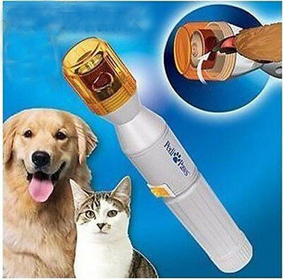 Pet Dog Cat Electric Nail Grooming Care Grinder Trimmers Claw Clipper  Nail File