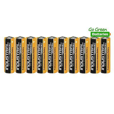 10 x Duracell AA Industrial Alkaline Batteries 1.5V LR6 MN1500 Procell 2023 exp.