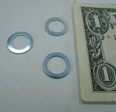 """Lot 100 Steel Flat Thin Shim Washers .586"""" x .400"""" x .023"""" Tiger Switch Spacer"""