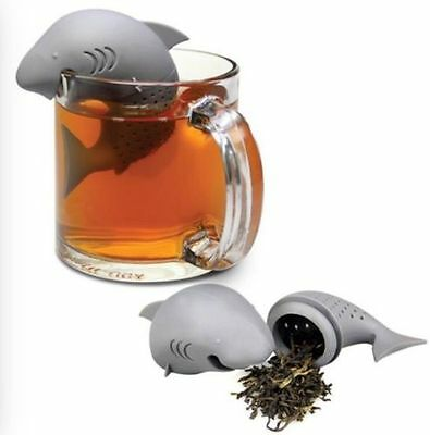Silicone Shark Infuser Tea loose Leaf Strainer Herbal Spice Filter Diffuser cute