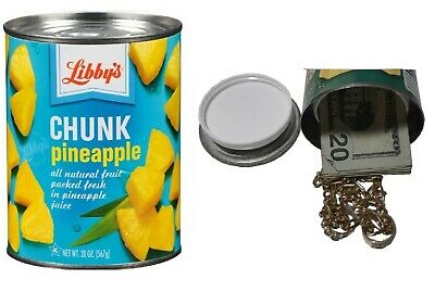 DOLE PINEAPPLE diversion can safe cash jewelry stash box money metal piggy bank