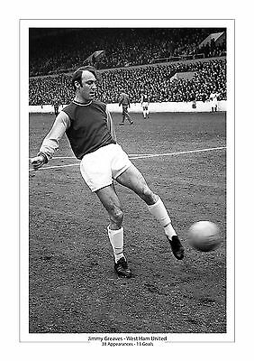 Jimmy Greaves  A4 Print Photo Career Stats West Ham Gift For Him 2