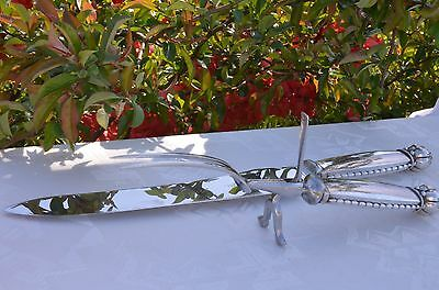Carving Set No 38 Vintage Georg Jensen Sterling Silver Pre 1944 Huge Quality