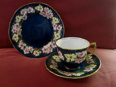 BEAUTIFUL CROWN STAFFORDSHIRE TRIO CUP SAUCER AND TEA PLATE A14642