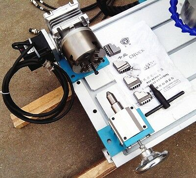 CNC Router Rotary Axis A 4th-axis,4-Jaw-80mm tailstock (Steel frame)  20:1