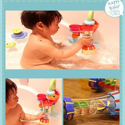 Baby Toddler Plastic Toy Colorful Bath Toys Water Whirly Wand Cup DIY for Gift B