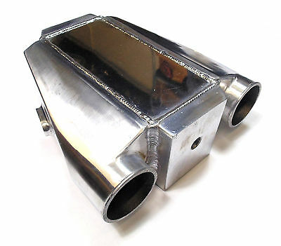 """Universal Air to Water Liquid Intercooler Chargecooler 3"""" Inlet Drag Track Race"""