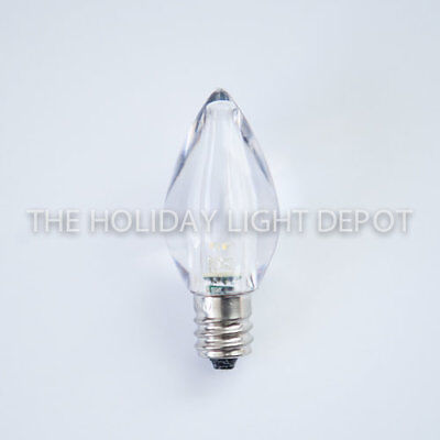 Box of 25 C7 Warm White LED Christmas Light Bulb Smooth LED Retro Fit Dimmable