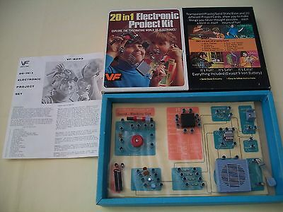Vanity Fair 20 in 1 Electronic Project Experiment Kit  # VF 8003 Vintage
