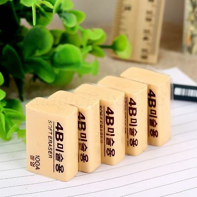 4B 100A Rubber Pencil Eraser Stationary for Art Drawing Sketchbook Office School