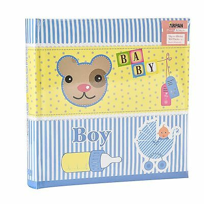 Blue Baby Boy Photo Album Holds 200 Photos 4' x 6' perfect for Gift -  CD200
