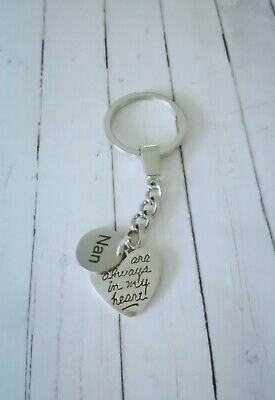 In loving memory, Always in my heart key ring baby loss,all family names,mum,dad