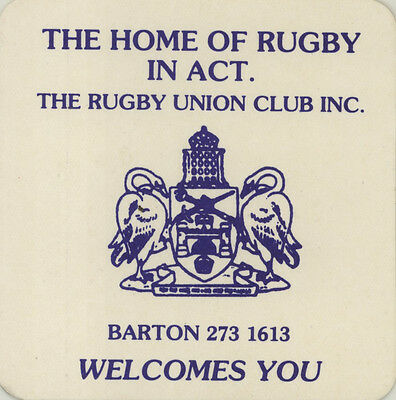 Coaster: The Rugby Union Club, Barton, ACT.