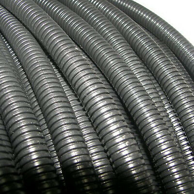 "New 20' Feet FT 1"" Black Split Loom Wire Flexible Tubing Wire Conduit Hose Audio"