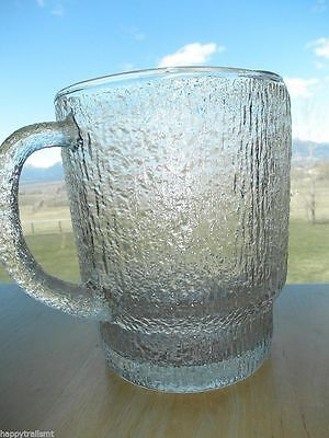Vintage CRACKLE Glass Squat Short PITCHER Water Ice Tea Milk Country Retro Table