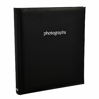 "Black Large Memo Slip In Case Photo Album Holds  200 Photos ( ""6 x 4"") - SM200BK"