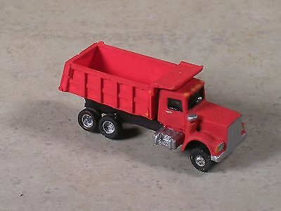 N Scale 2004 Red Kenworth Dump Truck with red back.