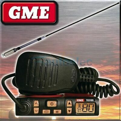 Gme Tx3100 + Ae4018K2 Antenna Pack Uhf Cb Radio New 80Ch 80 Channel Mobile