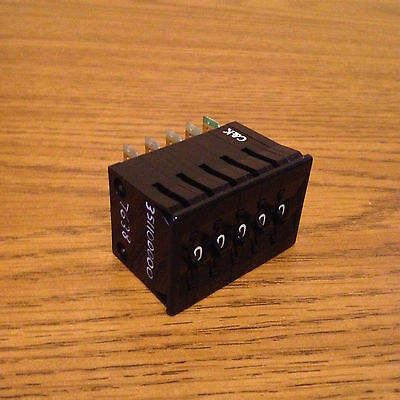 C&k 3511/7638  5 Digit Counter (New)