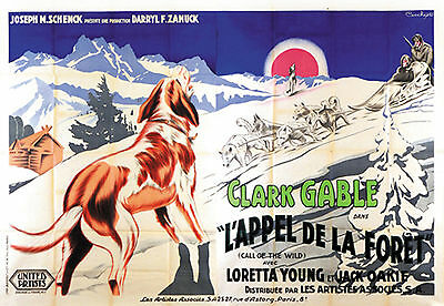 The Call Of The Wild - Original French Poster - Very Rare