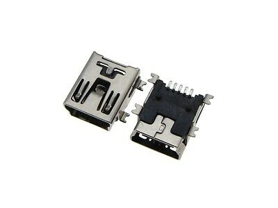 5P Mini USB Female Connector SMD Surface Mount - Pack of 20