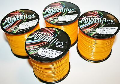 Ultima Powerflex Fire-Orange Shock Leader 4oz spools