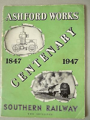 Ashford Works Centenary 1847-1947Booklet With Large Foldout Plan Of Works Sr
