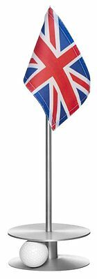 Anne Stone Golf Putt-A-Round UK Flag 1 Putting Aid, Silver, Small