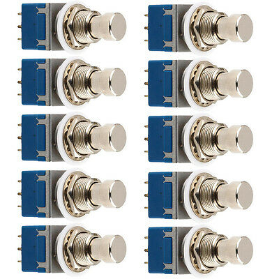 10 X 9Pin 3PDT Guitar Effects Stomp Buttom Switch Pedal Box Foot True Bypass