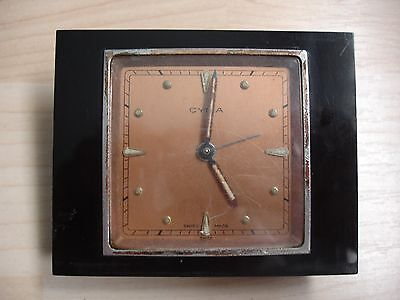 Vintage Swiss Travel Alarm Clock Cyma