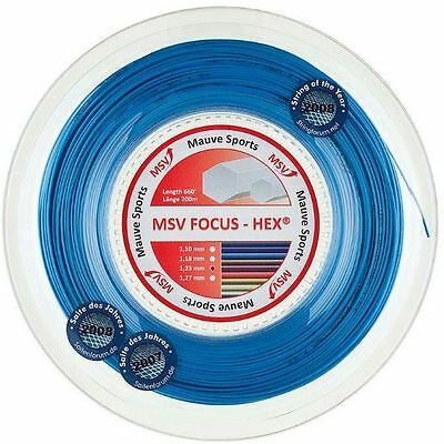 MSV Focus Hex 1.23mm (blue) 200m reel tennis string