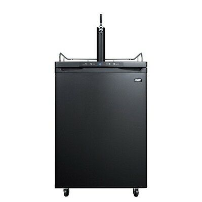 Summit Kegerator - 1 Faucet - Black - Draft Beer Dispensing in your Home Bar!