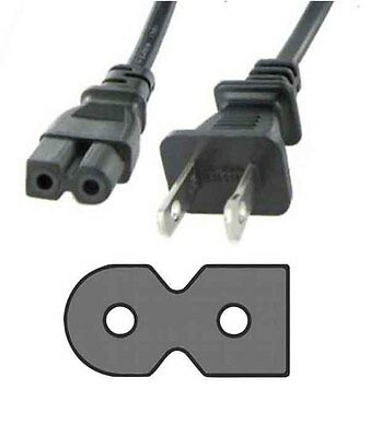 POWER CORD flat 2 prong for PHILIPS 52PFL5603D 52PFL5704D 52PFL7403D Television