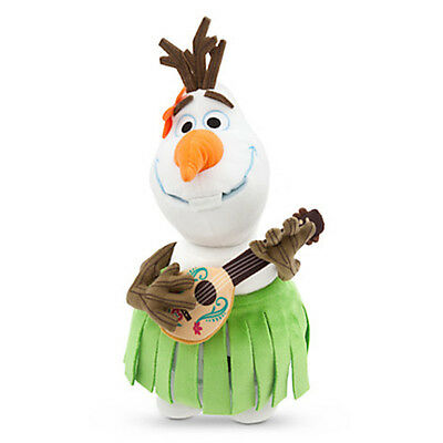 """disney store authentic frozen olaf aloha small 13"""" plush new with tag"""