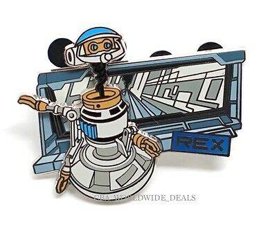 NEW Disney Parks Star Wars Weekend 2015 Mystery Droid Pin REX CHASER LE 400