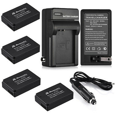 Full Decoded Battery Pack For Canon EOS M 100D Rebel SL1 LP-E12 + Charger