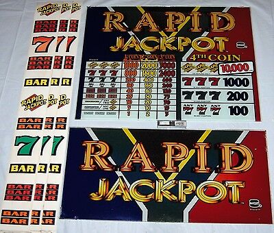 IGT S+/S2000 RAPID JACKPOT 4 COIN 16 INCH TOP GLASS Kit W/ Reel Strips & Eproms