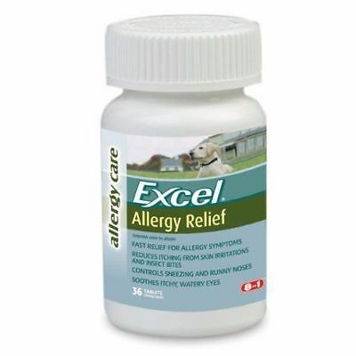Excel Allergy Relief for Dogs Itching Skin 36 Antihistamine Tabs 25mg