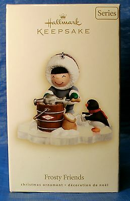 2007 HALLMARK ORNAMENT Frosty Friends #28 in Series Eskimo Making Ice Cream NIB