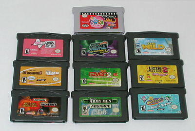 Lot of 10 Nintendo Gameboy Advance Games GBA Tested and Working R5485