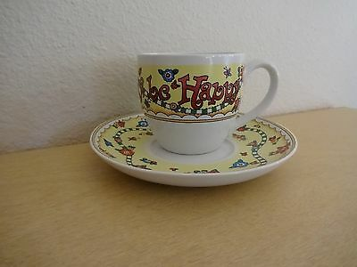 """Mary Engelbreit Tea Cup and Saucer Collection """"Just for Today, be Happy"""""""