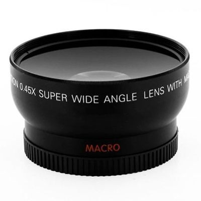 58MM 0.45x Wide Angle Macro Lens for Canon EOS 550D DSLR Rebel T1i XTi XS Camera