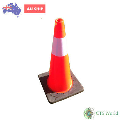 Tandem Traffic Cone With Reflective In Pvc Base 700 Mm