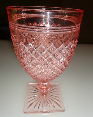Anchor Hocking Pink Miss America 10 oz Water Goblet
