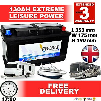 12V 130ah DEEP CYCLE LEISURE Battery, CARAVAN, MOTORHOME, BOAT Sealed for life