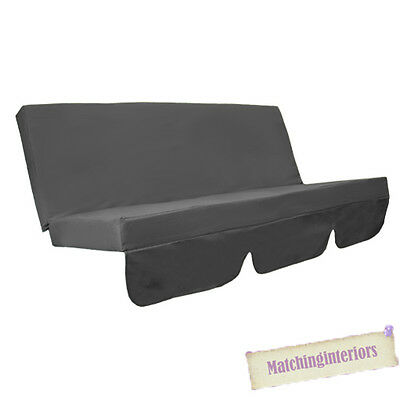 Grey Water Resistant Bench Cushion for Swing Hammock Garden Seat Pad