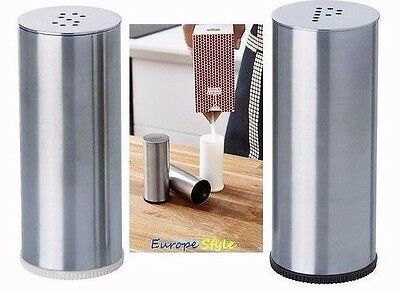 New Ikea Plats Salt & Pepper Shaker, Set Of 2, Stainless Steel