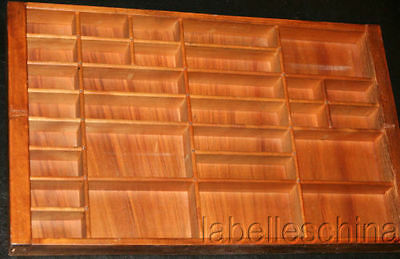 Wood Display Case for 30 Miniature Figurines Small Light Stained