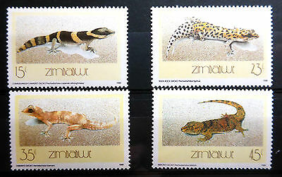 Zimbabwe 1989 Lizards Sg746-9 Cat £4.50 U/m New Lower Price Fp2969